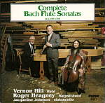 Vernon's CDs Complete Bach Flute Sonatas on 2 CDs